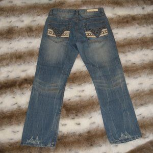REQUEST JEANS Men's Size 32X30 Straight Leg Embell